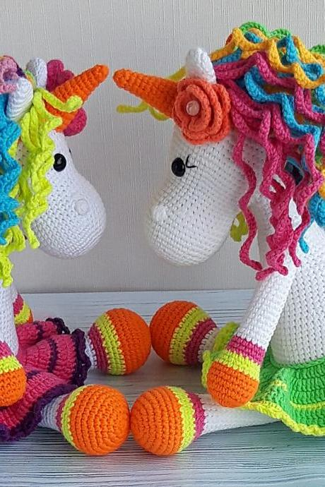 Stuffed unicorn toy,rainbow unicorn toy,magic horse, Baby shower gift,nursery toy for baby girl, Christmas gifts, Baby photo prop