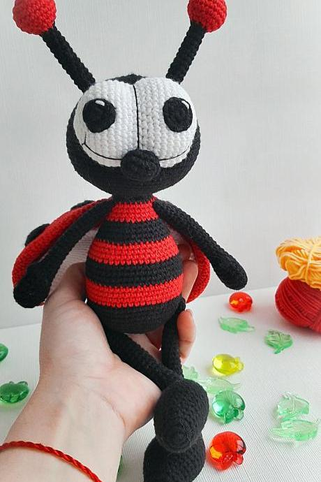 Stuffed Ladybug toy,insects toys,gifts ideas,Christmas gift for Baby, Birthday gift, Baby photo prop, nursery toys for baby and toddlers
