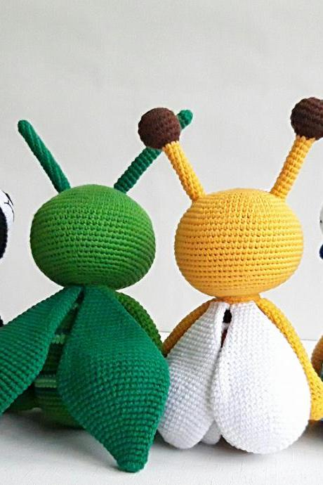 Stuffed toys bugs,insects toys, Christmas gifts for kids, Grasshopper, Honey Bee,Ladybug,Fly,Baby shower gift,Birthday gifts